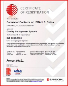 2016 ISO 9001 2008 Certificate